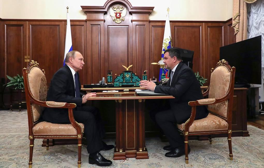 Президент провёл рабочую встречу с Заместителем Председателя Правительства Максимом Акимовым